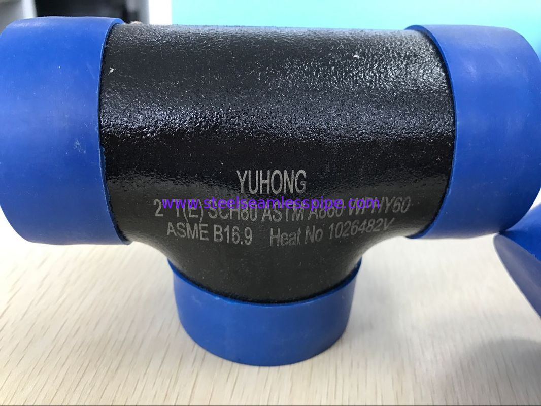 "ASTM A860 WPHY 60 Butt Weld Fittings , Equal Tee  1"" SCH40 BW B16.9"