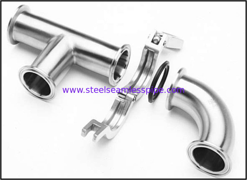 Mirror polished sanitary stainless steel pipe fitting Material 304,316-Accesorios sanitarios pulidos brillantes de acero